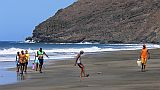 São Vicente : Palha Carga : Jugend am Strand : People Recreation
