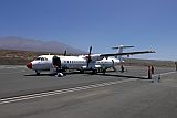 Fogo : Sao Filipe  Aeroporto : rented bulgarian aircraft ATR : Technology Transport