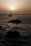 Brava : Feija de Agua : sunset with Sahara dust : Landscape Sea