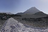 Fogo : Cha das Caldeiras : road covered by lava : Landscape Mountain